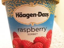 ハワイのハーゲンダッツ〜raspberry SORBET
