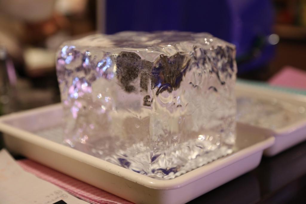 三日月氷菓店。三ツ星の天然氷