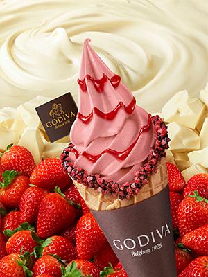 ゴディバ ソフトクリーム ホワイトチョコレート ストロベリー